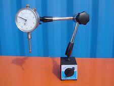 "Universal Swivel Arm Magnetic Base & 0-1"" Dial Indicator 60kgs Force"