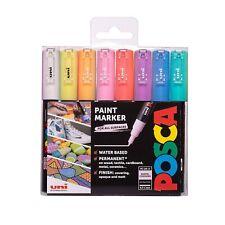 Uni POSCA Paint Markers PC-1M Extra Fine Tip Set of 8 Pastel Colours