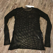 Barbara Speer Lagenlook Long Netz Shirt anthra old look NEU