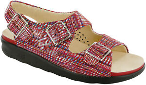 SAS Relaxed Rainbow Red, Women's Sandal