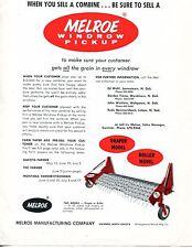 1965 Dealer Print Ad of Melroe Manufacturing Co Draper Roller Windrow Pickup