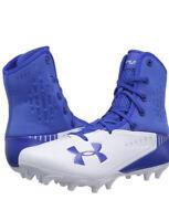 Sz 8 Under Armour Highlight MC Men NEW 3000413-400 white blue Football Cleats