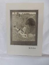 Boudoir Salon 1940s 50s  Decor Vintage print from photographers studio  nude .28
