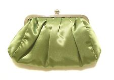 Satin Menbur Clutch Evening Purse with Crystal Decoration & Changeable Strap