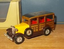 Matchbox Yesteryear Y21 Ford Model A Woody Wagon Yellow Brown Windscreen Issue 3
