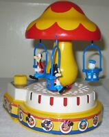 "Walt Disney Prods Wind-up ""Musical Merry-Go-Round"" Mickey, Donald, Goofy Ride"