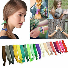 Women 30pcs Elastic Hair Ties Band Ropes Ring Ponytail Holder Accessory Mixed