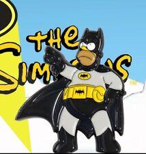 HOMER BAT LAPEL PIN - DATA - THE SIMPSONS - BATMAN - RETRO