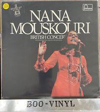 NANA MOUSKOURI British Concert 1972 UK Double Vinyl LP excellent Condition