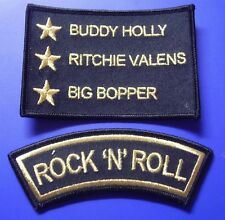 ROCK 'N' ROLL PATCH SET - 3 STARS AND SHOULDER PATCH