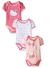 Lot of 3 HELLO KITTY Baby Girl's Bodysuits PINK CARNATION 18 Months NEW