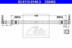 Flexible de frein FORD GALAXY (WGR), SEAT ALHAMBRA (7V8, 7V9), VW SHARAN (7M8, 7