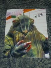 DAVID BULBECK  - DR WHO  - 10x8 PHOTO SIGNED -(57)