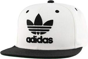New Adidas Youth Kids Boy Girls Unisex Originals Trefoil Snapback White Hat