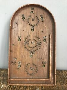 Vintage Bagatelle Table Top Wooden Pinball Game- Miniature 1950's Game