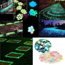 10pcs/pack Luminous Pebble Stone Glow In The Dark Fish Tank Garden Shiny Decor