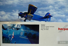 Herpa Wings 1:200 Antonov an-2 Antonov Club Suisse Ha-ABA 556927