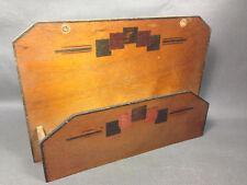 Ancienne petite boite en bois murale range papier ou clés vintage french antique