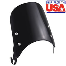 Black Universal ABS Windscreen For 5-7'' inch Round Headlights Wind Protector US