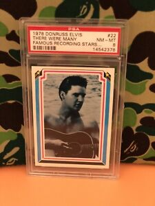 PSA 8 1978 Donruss Elvis Presley Records No. 22 There Were Many Famous Stars #22