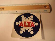 "Alta Ski Resort 3 "" Round Bumper Sticker; Utah Mountain Decal Souvenir"