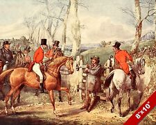 DUKE OF WELLINGTON FOX HUNT HORSE EQUESTRIAN HUNTING ART PAINTING CANVAS PRINT