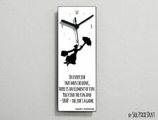 Mary Poppin -In every job that must be done, there is an ... - White Wall Clock