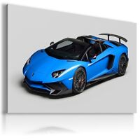 LAMBORGHINI AVENTADOR BLUE Sports Cars Wall Art Canvas  AU483 MATAGA