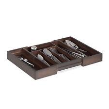Besteckkasten Bambus dunkelbraun Besteckeinsatz Schubladeneinlage Schubladenbox