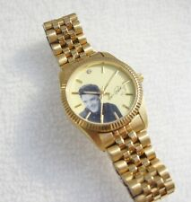 Elvis Presley Men's Gold Tone Steel Watch Analog Dial