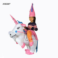 Inflatable Unicorn Costume Blow Up Suit Birthday Dress Cosplay Outfit Adult Kids