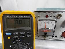 Power Designs Transistorized Power Supply Model 2015r