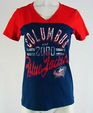 Columbus Blue Jackets NHL Touch Stadium Women's Navy Blue V-Neck Shirt