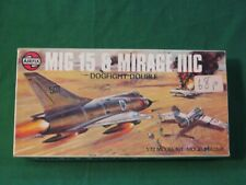 RARE VINTAGE AIRFIX DOGFIGHT DOUBLES MIG 15 & MIRAGE IIIC MODEL KIT 1/72 #03143