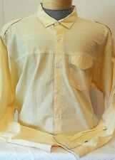 NWT Mark Ecko Mens Yellow Print Long Sleeve Button Up Shirt XXL