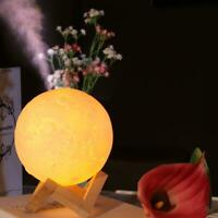 USB Luftbefeuchter 3D Mond Lamp Ätherisches Öl Diffusor Luftreiniger Ultraschall