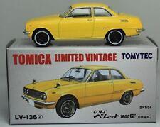Tomytec Tomy Tomica Limited Vintage Lv-136A Isuzu Bellett 1600 Gt (yellow) 1 :64