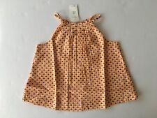 NWT Baby Gap 3 Years 3T Light Orange Triangle Pleated Swing Tank Top