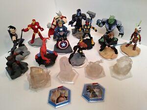 Disney infinity Lot  of 18 Figures Thor Iron Man Ant Man Ronan Anakin