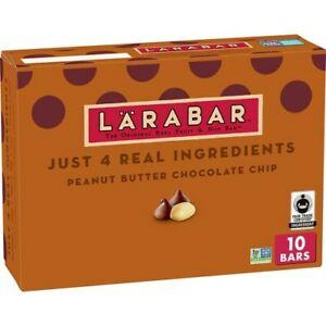 10 Larabars Gluten Free Bar, Peanut Butter Chocolate Chip, 16 oz Sealed Box