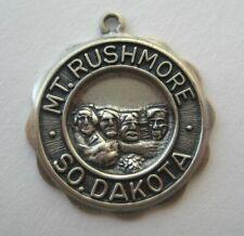 Rushmore~South Dakota.Silver Bracelet Charm Vintage Beau Sterling Mount