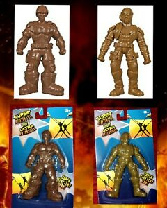 Super Stretch Ninja And Soldier Toys 6x3x0.4 In. Stretch Far kid's Favorite 2LOT