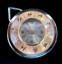 Bercona Mens Swiss Gold Dial Gold-Tone Aluminum Case 1 Jewel Pocket Watch 8610