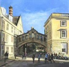 "STUNNING ELAINE MARSTON ORIGINAL ""Bridge of Sighs, Oxford"" University PAINTING"