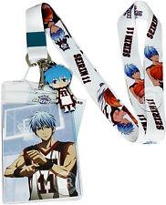Kuroko's Basketball Tetsuya Kuroko Lanyard Badge ID Holder & PVC Charm Offiical