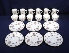 Royal Victoria 18 pc Fine Bone China 6 Coffee Mugs 6 Sherbet Fruit Bowl 6 Plates