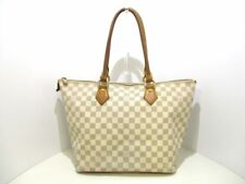Auth LOUIS VUITTON Saleya MM N51185 Azur Damier Canvas FL2057 Handbag