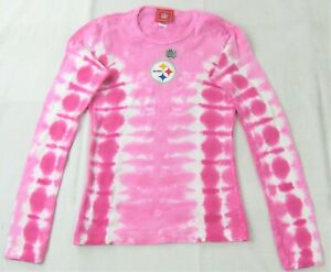 Pittsburgh Steelers NFL Team Apparel Youth Girls Tie-Dye Shirt