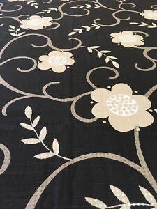 Curtain Sample Rem Vintage Fabric Blind Cushion Craft 66x62cm Biba Black