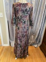 Peruvian Connection Long Sleeve Floral Dress Size Medium